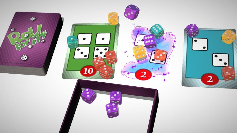 Example of a round of play with Roll With It.