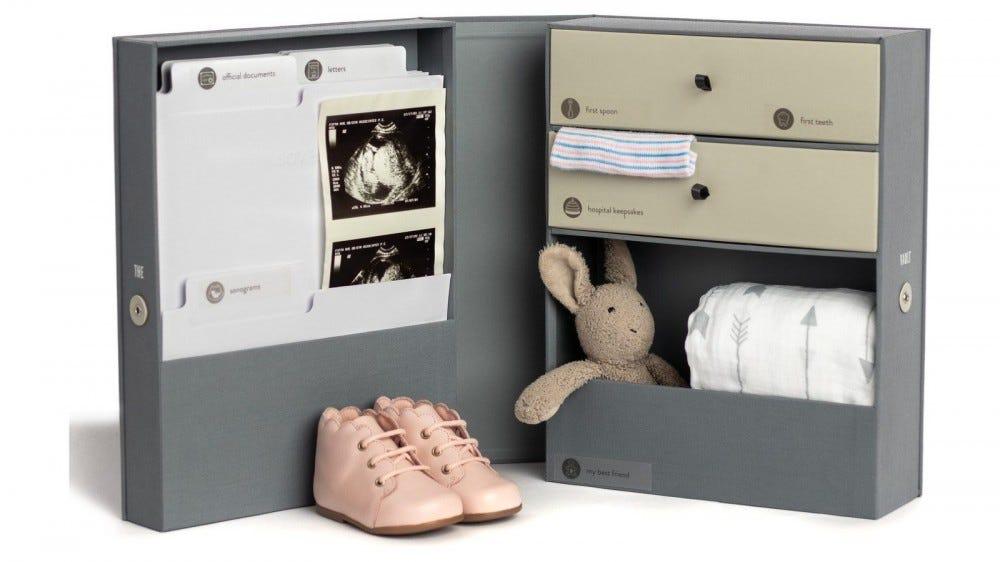 The Savor Vault Baby Keepsake Box.