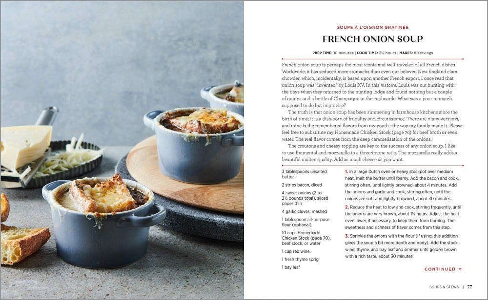 recipe for French onion soup.
