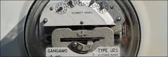 closeup of power meter