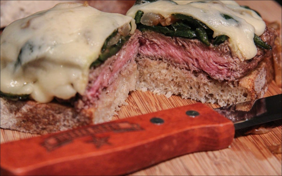 flat iron steak sandwich