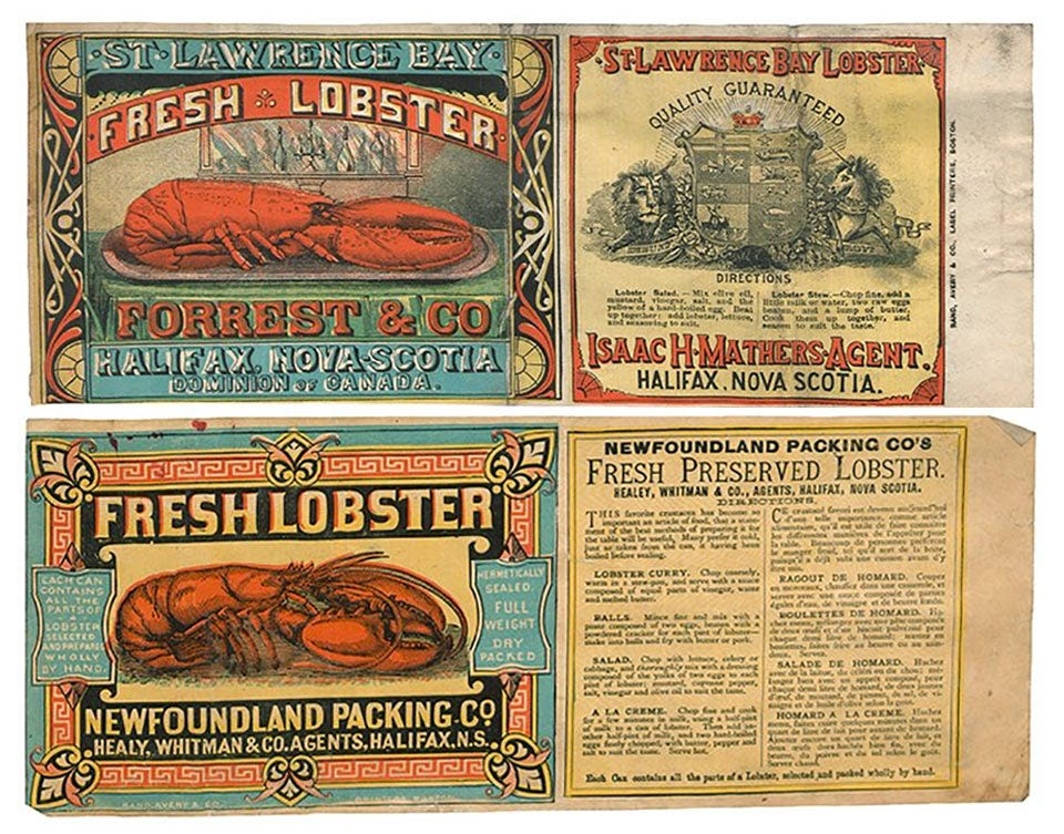 Examples of early lobster advertisements.