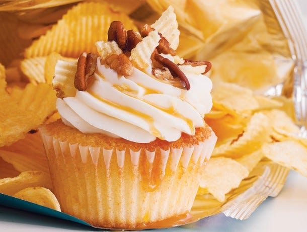 pecan potato chip cupcake