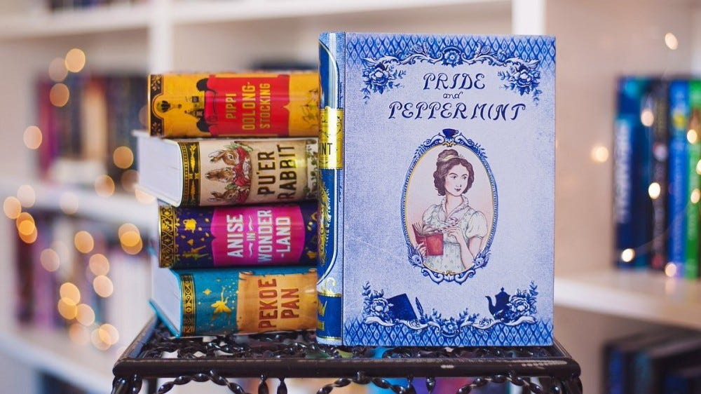 """Teas inspired by books, including """"Pride and Peppermint."""""""