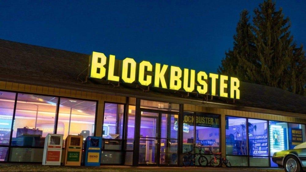Blockbuster store.