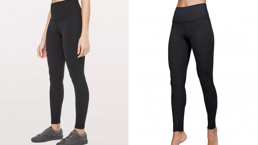 two black leggings side by side