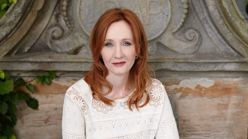 Portrait of author J.K. Rowling.