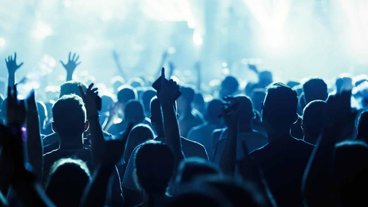 noisy crowd at a festival