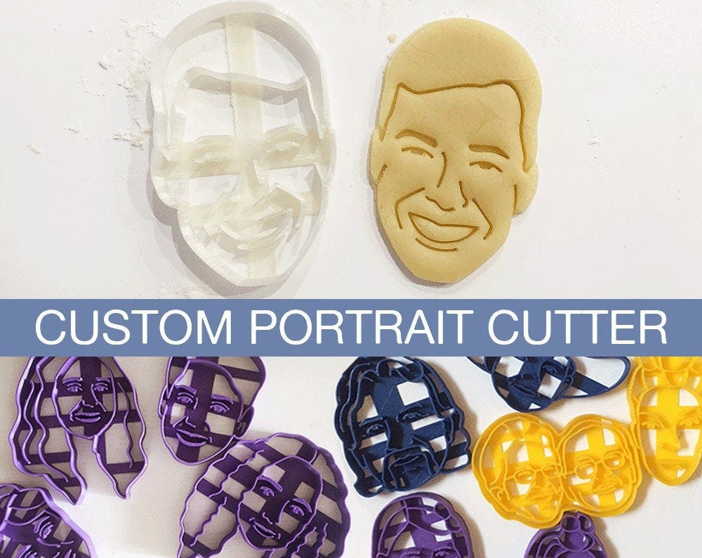 custom cookie cutters based on portraits