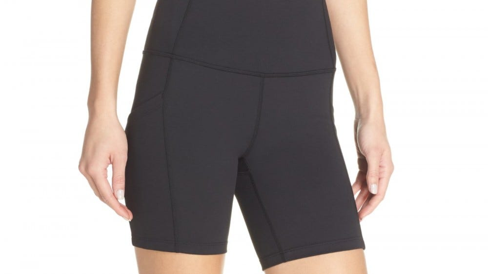 Zella Live In High Waist Pocket Bike Shorts
