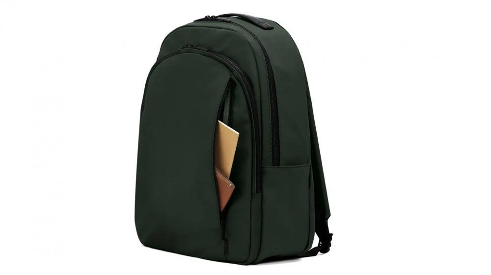 Away The Backpack in green.