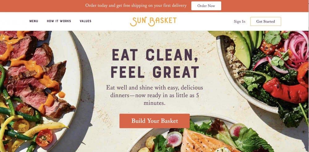 The Sun Basket website.