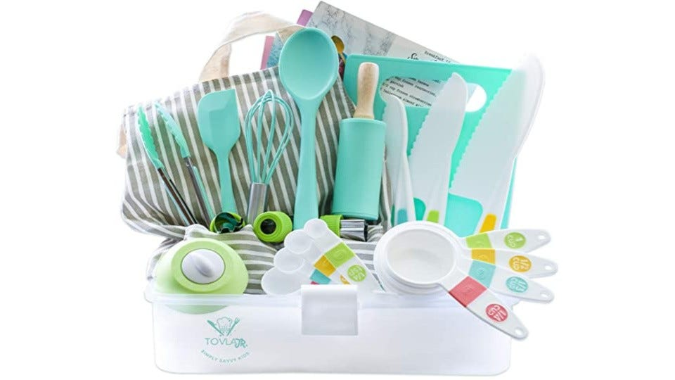 Tovla & Co.  Junior cooking and baking set.