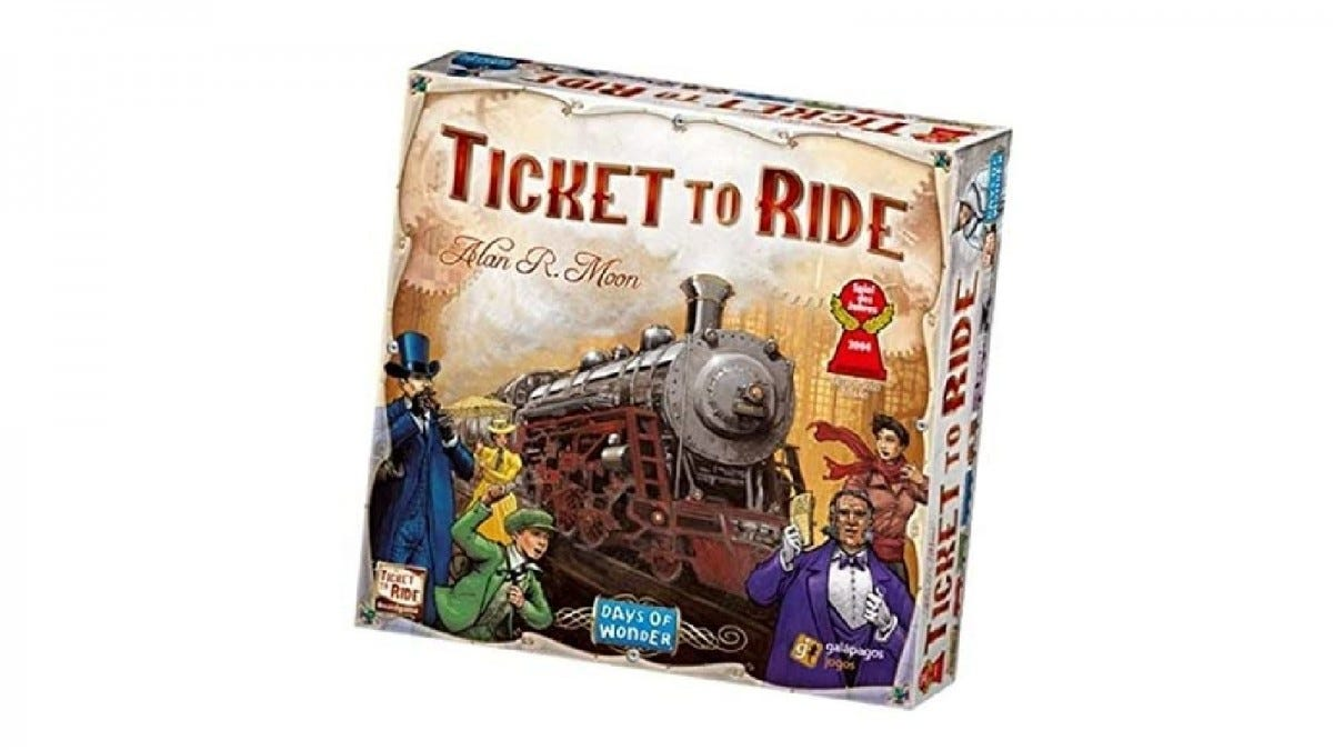 The Ticket to Ride game box.