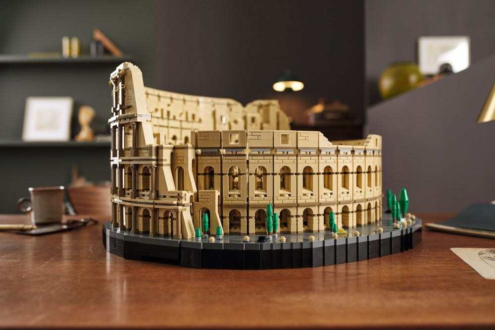 The completed LEGO Roman Coliseum.