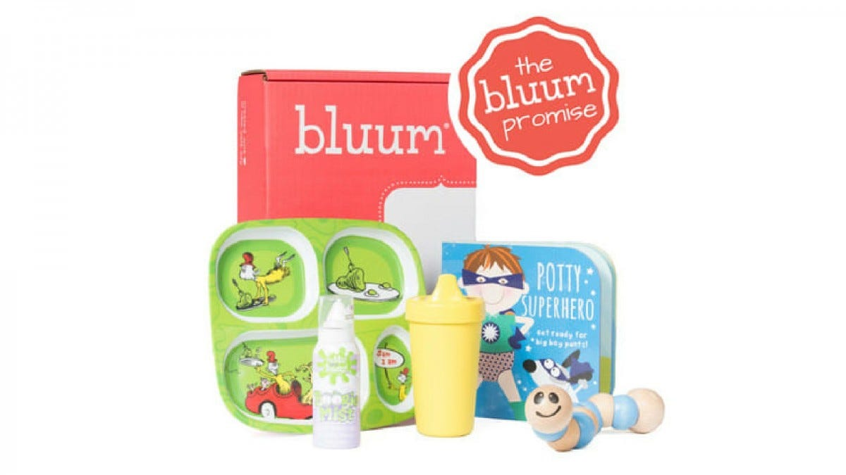 An example of the Bluum baby gift box.