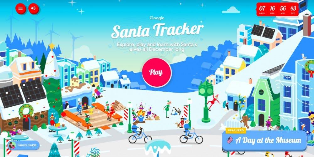 Google has launched a Santa tracker and Santa village.
