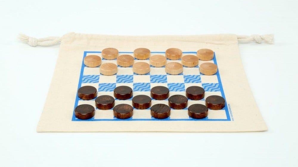 A Summer Shop's Checkers game.