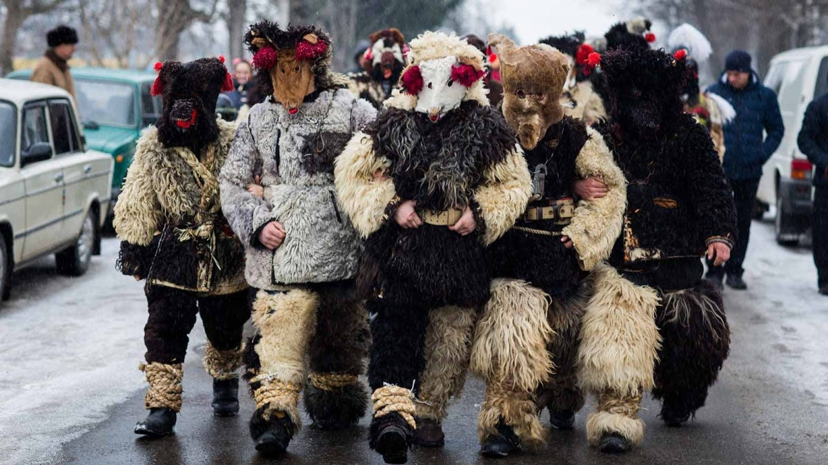 A Malanka festival celebration in the Ukraine.