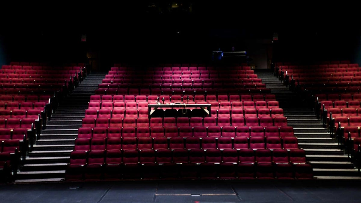 An empty auditorium.