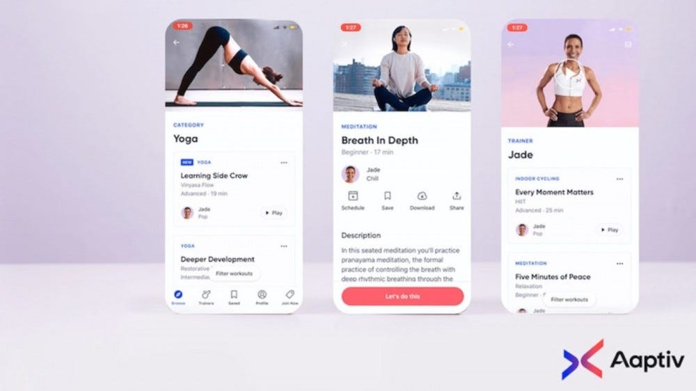 phone screens showing app