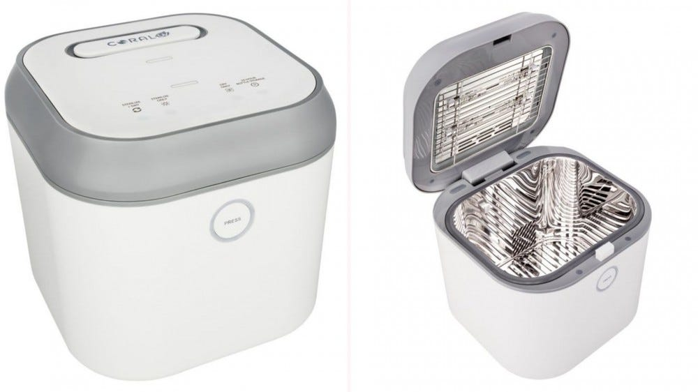 The three-in-one UVC Sterilizer and Dryer by Coral UV.