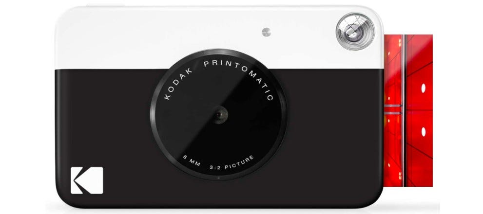 KODAK Printomatci Digital Instant Print black-and-white camera with print paper