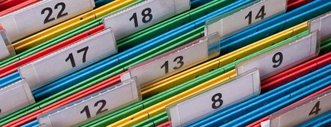 Tickler-Dateien sind eine perfekte Möglichkeit, den Überblick über Dokumente, Aufgaben und mehr zu behalten